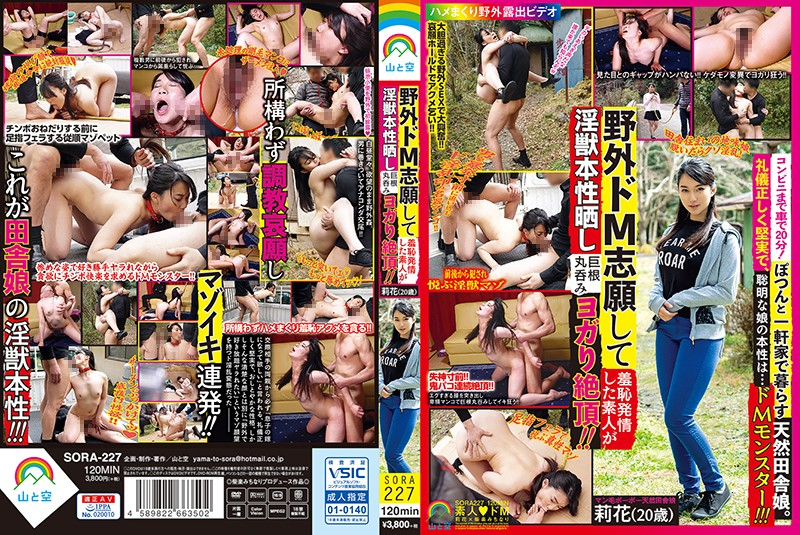 SORA-227 - Amateur Girl Fantasizes About Fucking A Huge Cock Outdoors And Being Humiliated In Public – Rika (20 Years Old) shame outdoor amateur training